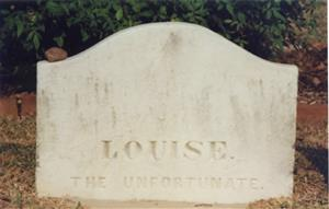 Louise the Unfortunate monument at Natchez City Cemetery