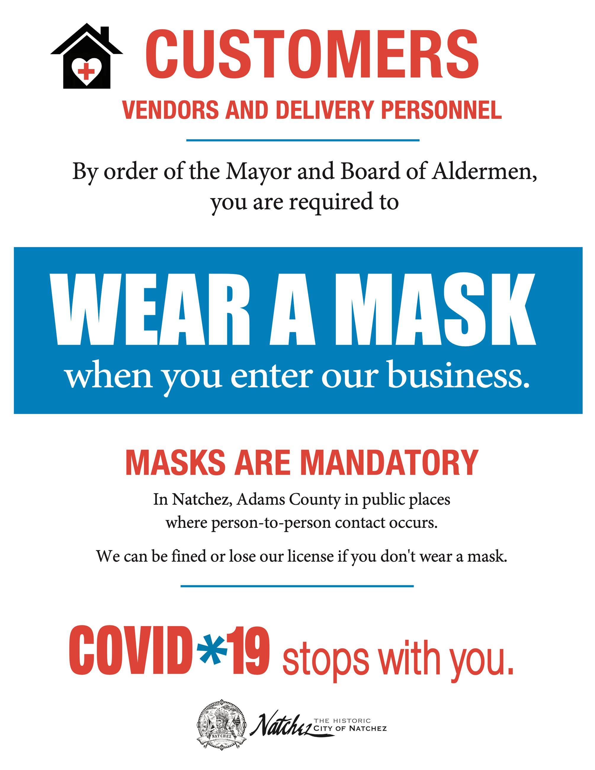 Masks Mandatory Poster for All Businesses (1) Opens in new window